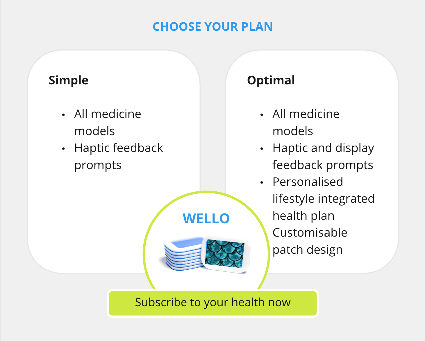 Subscribe to Wello Health Diversity Patch