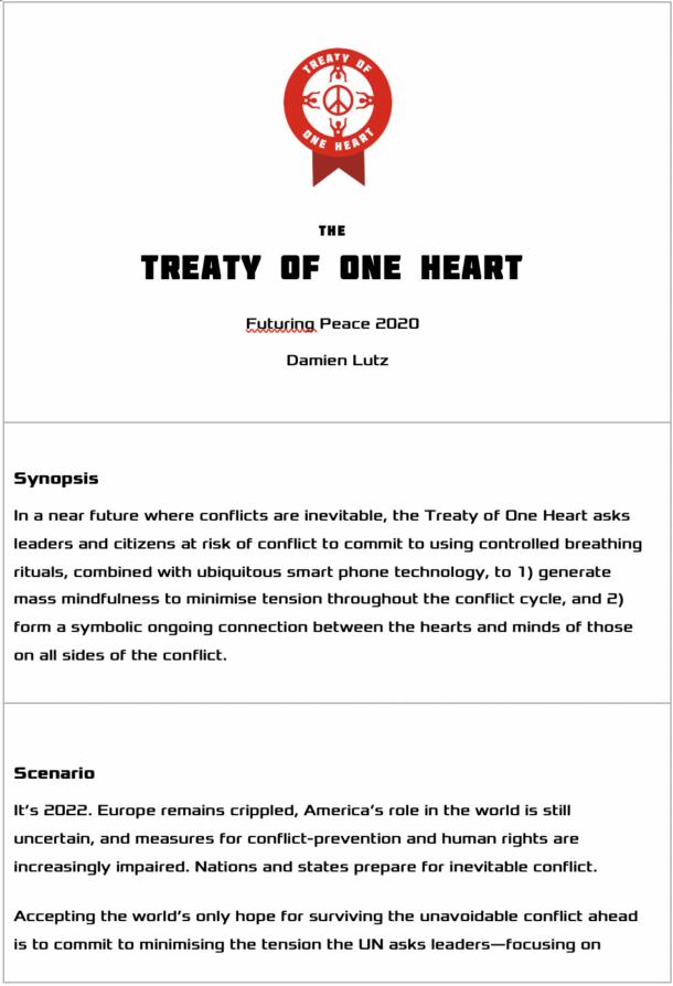 A PDF explaining the Treaty of One Heart