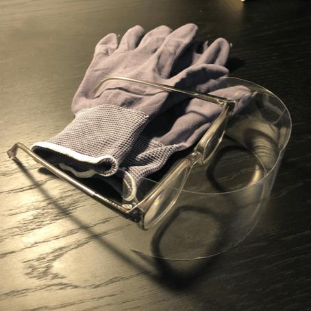 MR Glasses and Haptic Gloves